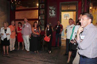 Guests enjoying the Ruby Bar