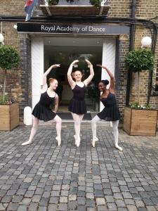 BALLET Ballet is the foundation of all forms of dance, therefore ability in this classical style will benefit all dancers. Elegance, poise, deportment and confidence that come from learning Ballet is a life long asset. The syllabus is designed to be safely taught at all levels. Pupils have the option to take an RAD accredited exam in all grades. We also offer the Vocational syllabus commencing with Intermediate Foundation up to Advanced 2. These are the professional exams and commence running alongside the grades at Grade 4 level. At vocational level we now have 7 senior students who now have now achieved the coveted ARAD after their names by passing the Advanced 2 examination. Beginners are welcome at any age into the appropriate grade. We offer a Pointe work in our Vocational classes at the teachers' discretion.