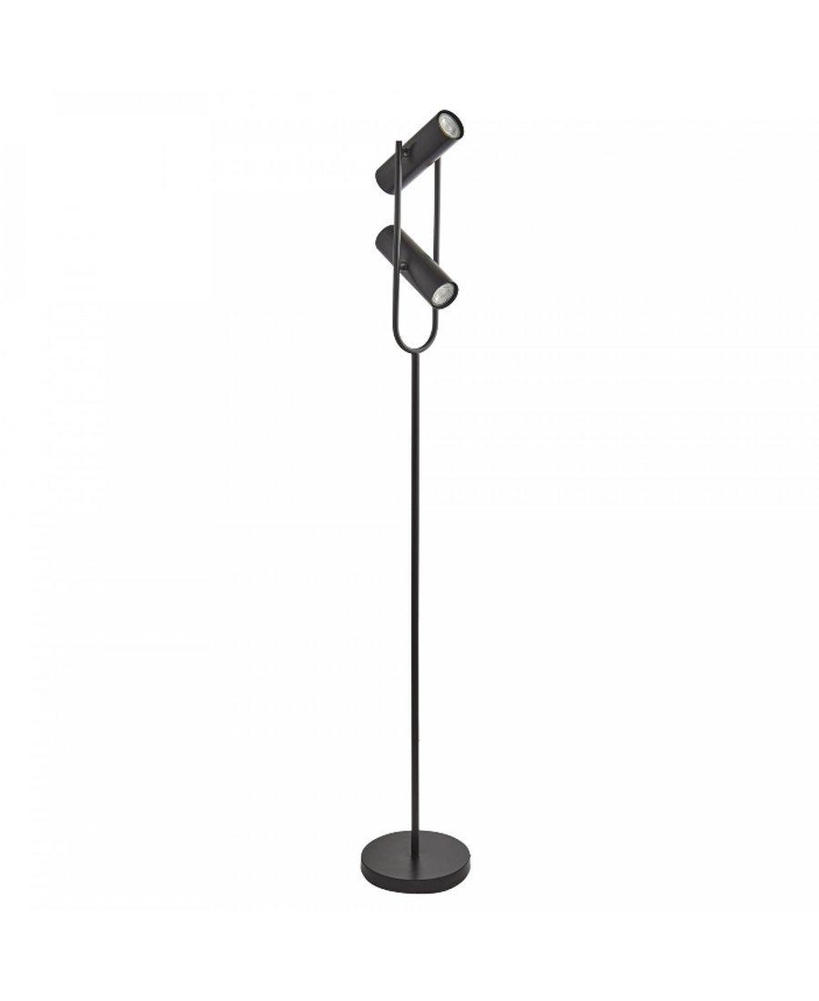 Stehleuchte Stehlampe Metall Matt Schwarz 9600