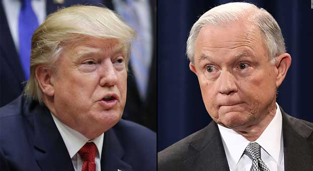 trump has responded to the failure of the justice department to jeff sessions