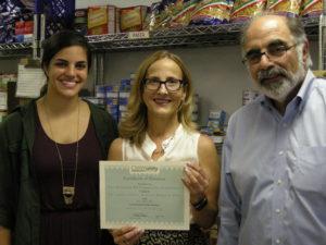 Sarah Halejian, Jennifer Johnson from Center for Food Action, Barry Halejian Photo Credit: Andrea Tilbian Halejian Memorial Fund Advisory Committee