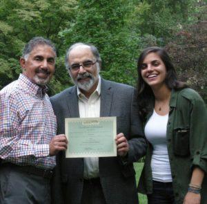 Dennis Tarzian of Fund for Armenian Relief, Barry Halejian and Sarah Halejian.
