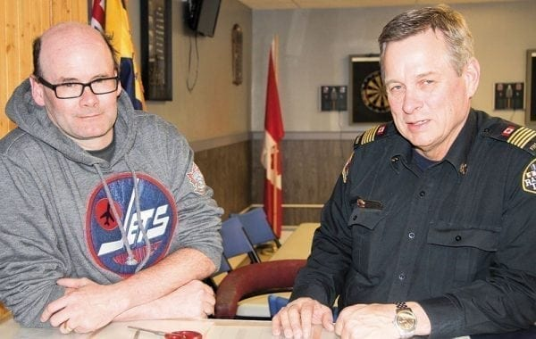 Executive member-at-large Darrin Nichol, left, and interim vice-president Mark Wyatt saw a lot of hard work and determination finally pay off when the Royal Canadian Legion Branch 169 Rankin Inlet officially received its club license this past week. - Darrell Greer/NNSL photo