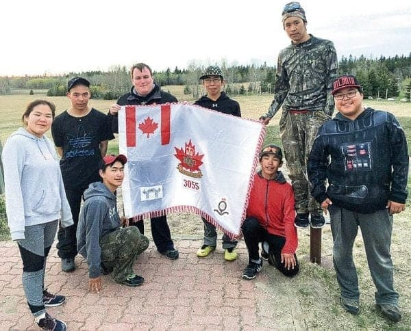 Seven Naujaat cadets attended silver star training at Birds Hill Provincial Park near Winnipeg earlier this month. Standing from left, Cpl. Beatrice Kaunak, Cpl. Kurt Ignerdjuk, Capt Lloyd Francis (commanding officer), Master Cpl. Ernie Inaksajak, Cpl. Jonah Allianaq and Master Cpl. Lou Kopak; and kneeling from left, Master Cpl. Ron Sivanertok and Master Cpl. Anderson Putulik. Photo courtesy of Lloyd Francis