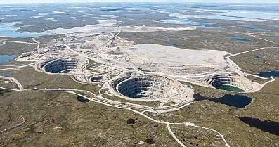 Dominion Diamond announced positive results for its pre-feasibility study at the Misery Deep pit on Tuesday. The Misery Main pipe open-pit mine is expected to account for around 60 per cent of of the diamond carats recovered at Ekati mine in fiscal 2018. nnsl file photo