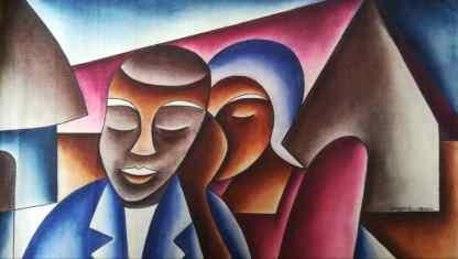 Title Decision Making. Artist Nuwa Wamala Nnyanzi. Medium Batik. Code NWN0212011