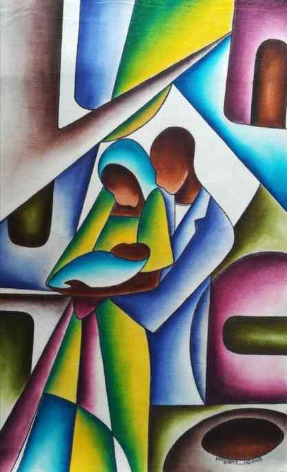 Title Bundle Of Joy. Artist Nuwa Wamala Nnyanzi. Medium Batik. Code NWN012 62015