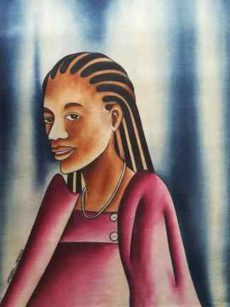 Title Malikiya. Artist Nuwa Wamala Nnyanzi. Medium Batik. Code NWN0202005