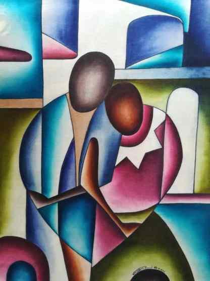 Title The Altar Of Love. Artist Nuwa Wamala Nnyanzi. Medium Batik. Code NWNWEB0162011