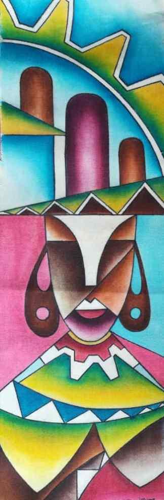 Title The Princess Royal. Artist Nuwa Wamala Nnyanzi. Medium Batik. Code 002762015