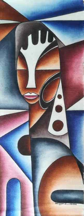 Title The Silent Voice. Artist Nuwa Wamala Nnyanzi. Medium Batik. Code 0022015