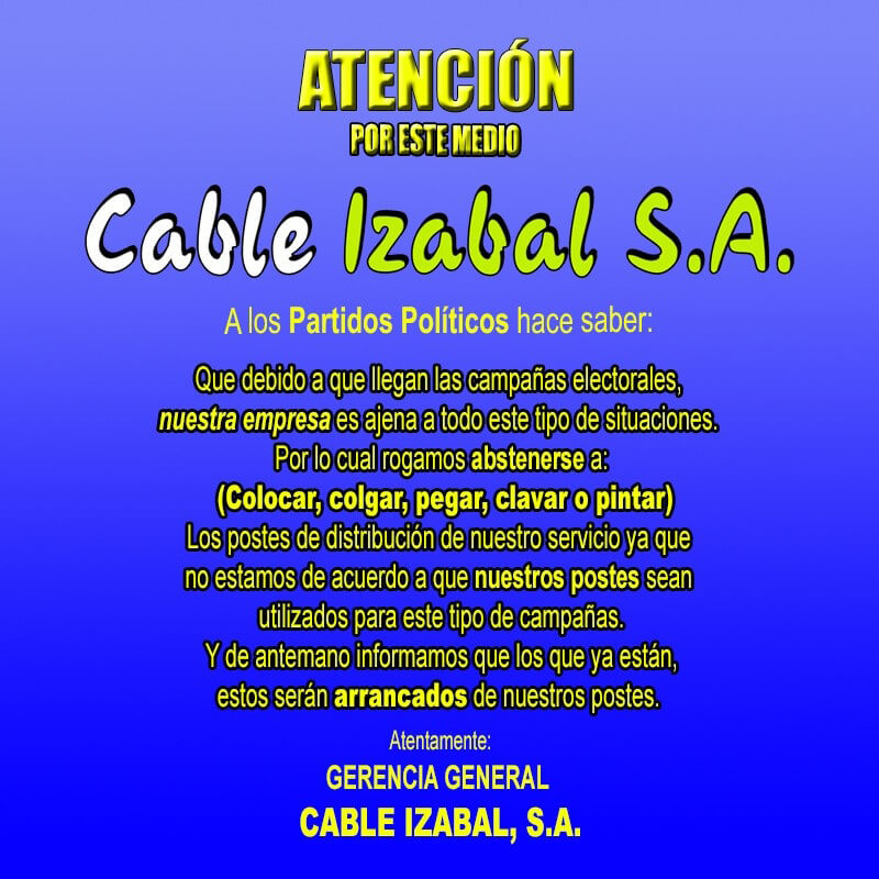 Cable Izabal 001