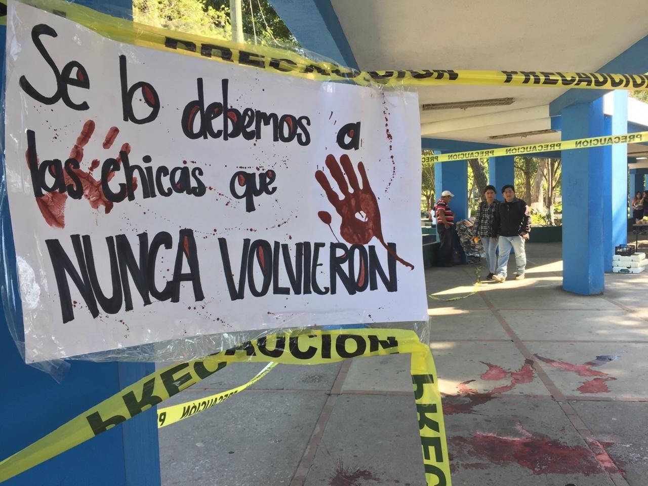 Estudiantes de la USAC se plantan ante la violencia machista