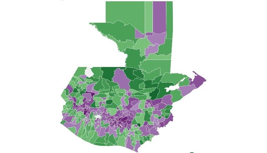Todas las grandes ciudades votaron por Giammattei|MAPA