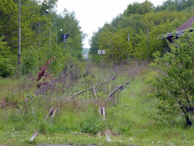 verlaten spoorweg