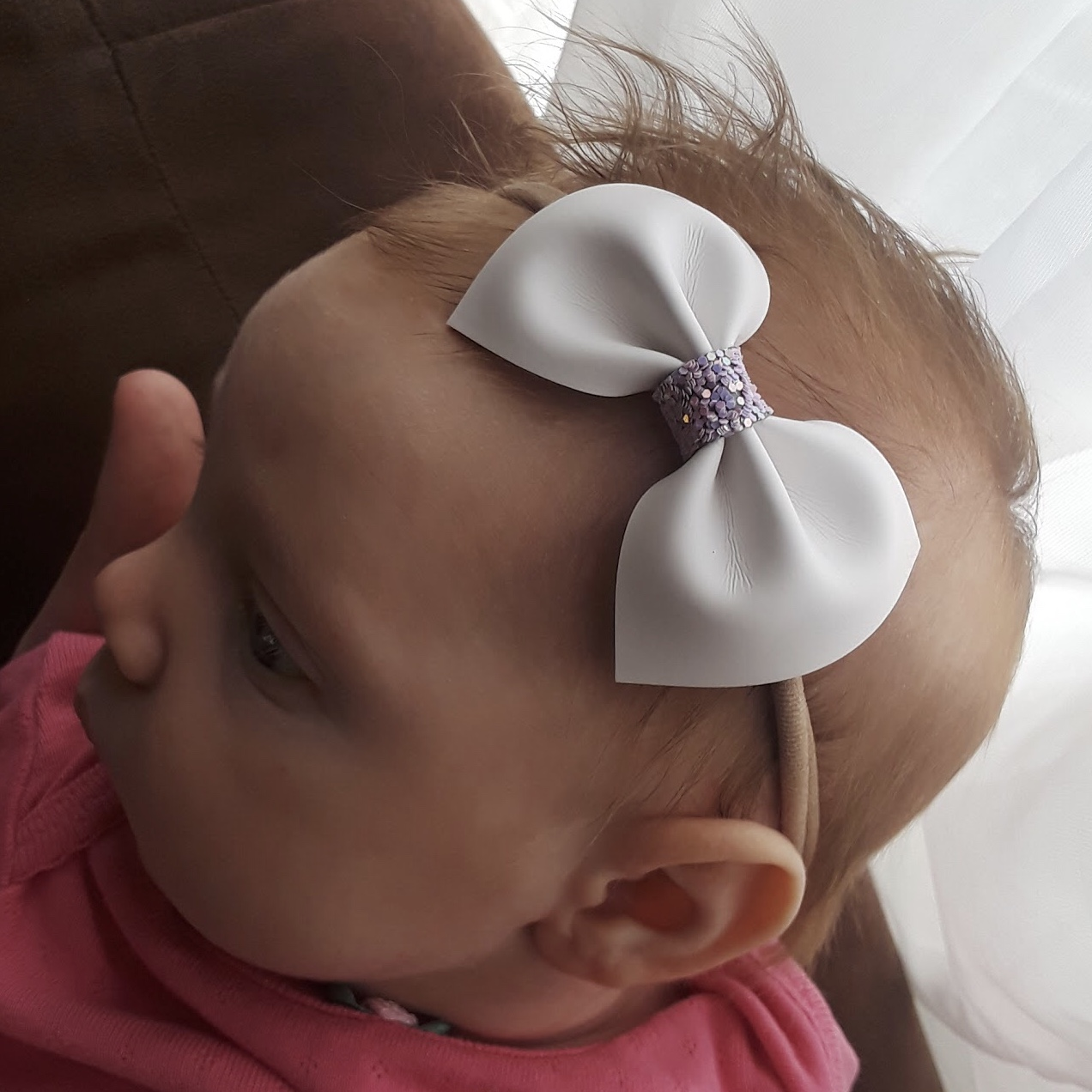 Teal Bow Baby Bow Headband Newborn Headband -Baby Girl Headband Baby Headband Nylon Headband-Hair Bow Light Teal Baby Headband