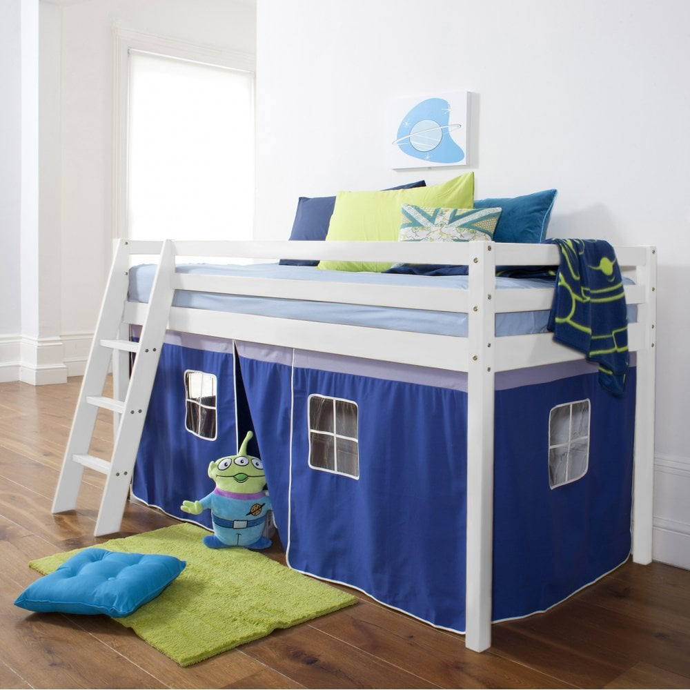 living room classic contemporary lighting brilliant blue cabin bed with ladder & tent | noa nani