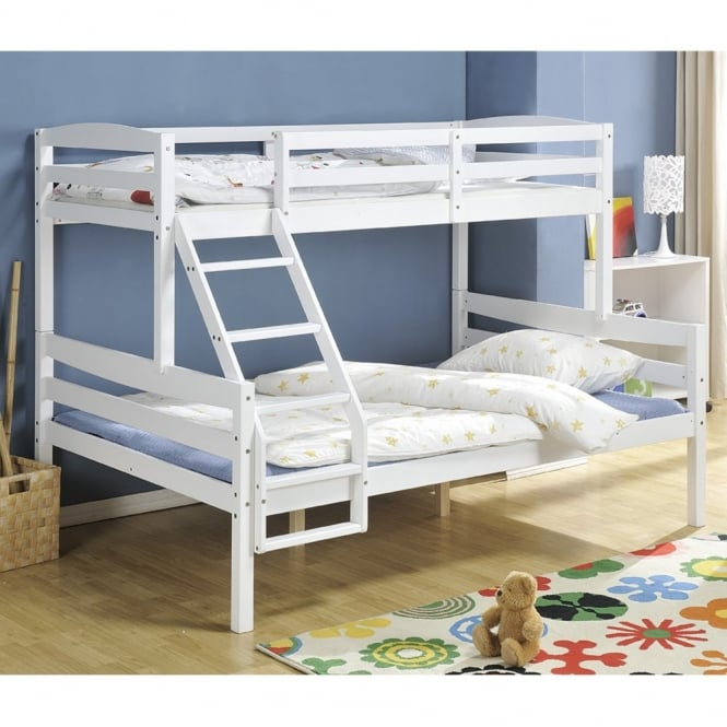 living room furniture clearance sale chaise hastings triple bunk bed in white | nao & nani