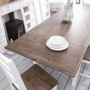 dark kitchen table island with cooktop canterbury dining 5 chairs and bench noa nani pair of extensions for pine white