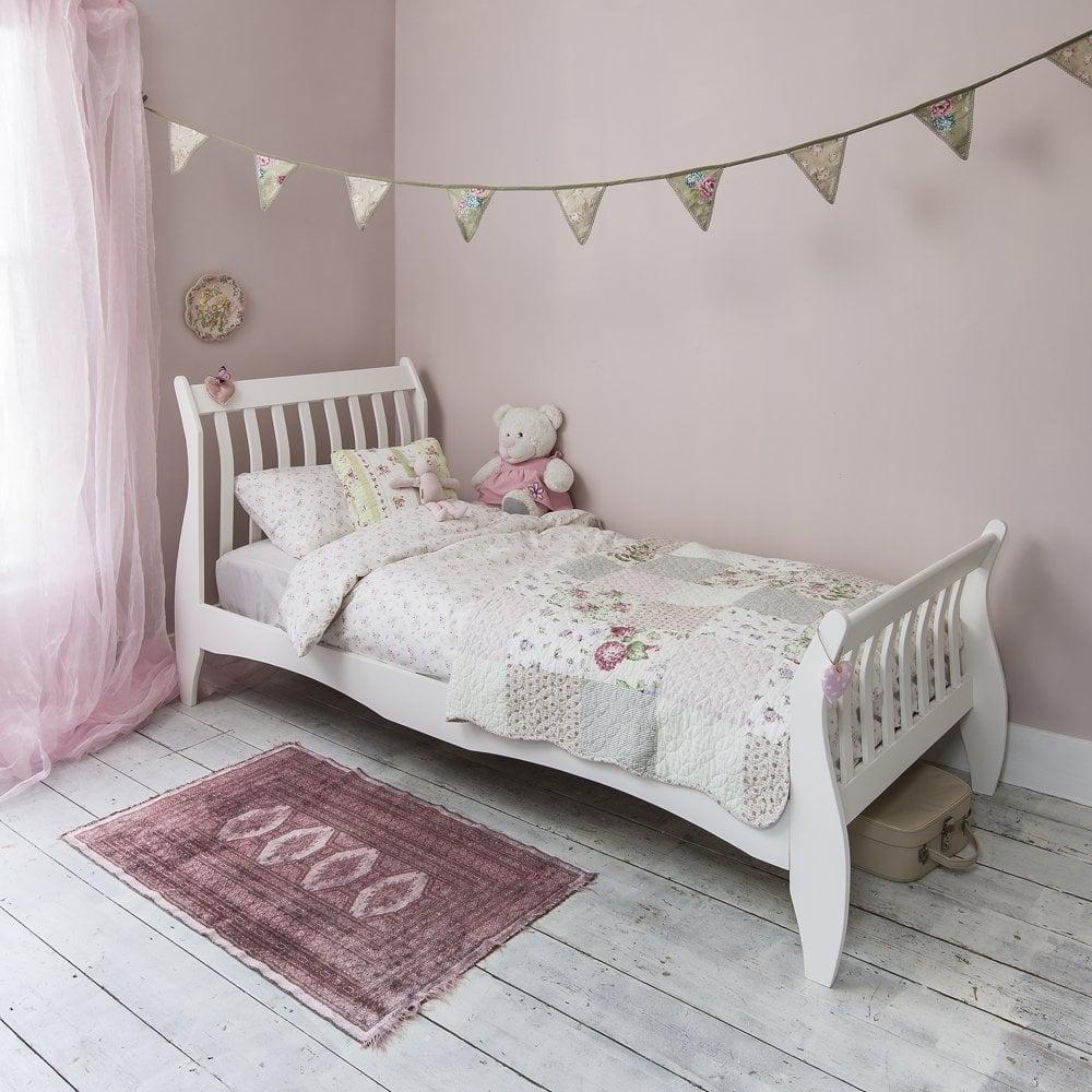 Astrid Single Sleigh Bed in White  Noa  Nani