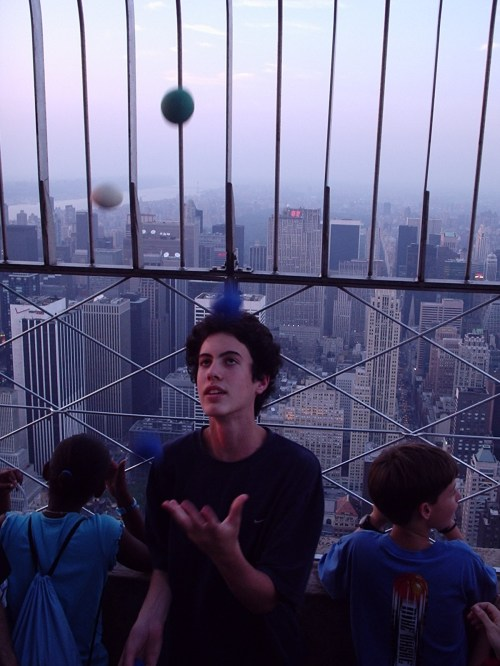 juggling at the Empire State Building 7-2004