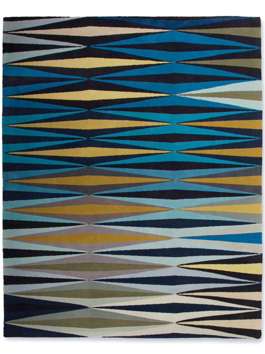 Ripple in Blue, 8 ft. x 10 ft.