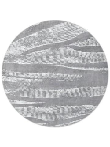 Ebu in Silver, 8 ft. x 8 ft. round