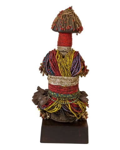 20th Century Beaded Fertility Doll, Fali People, Nigeria - Cameroon, Africa