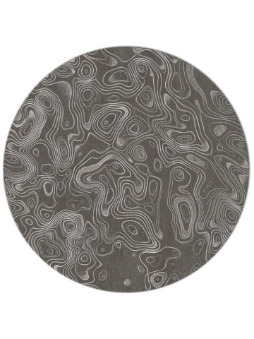 String Theory in Pewter, 8 ft. x 8 ft. round