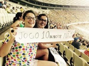 Torcedoras participando da campanha no Ceará