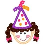 outline little birthday girl
