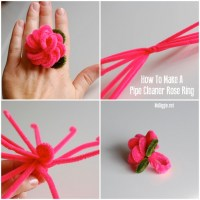 How to make a pipe cleaner rose ring