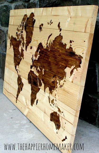 Make An Oversized World Map String Art