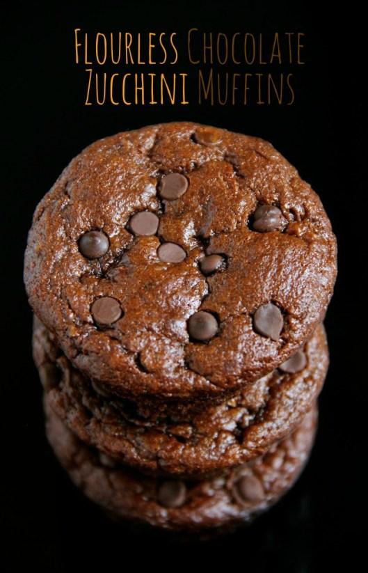 Flourless chocolate zucchini muffins | 25+ Gluten Free and Dairy Free Desserts