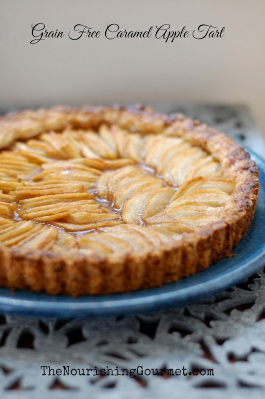Grain Free Caramel Apple Tart | 25+ Gluten Free and Dairy Free Desserts