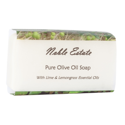 Lime and Lemongrass Pure Olive Oil Bar Soap