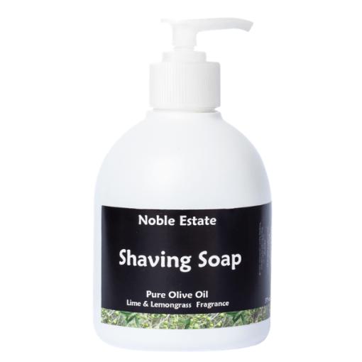 Lime and Lemongrass Pure Olive Oil Shaving Soap 375ml