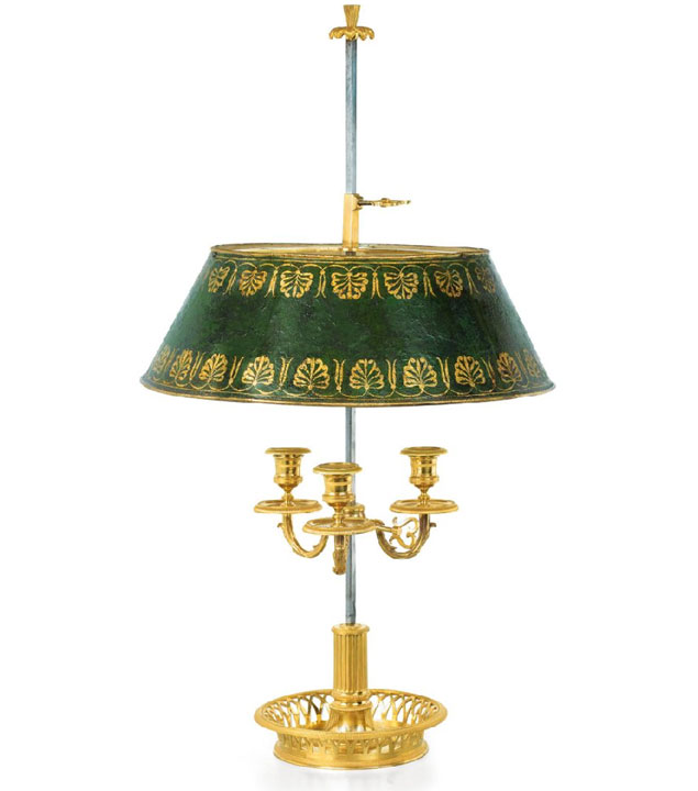 Noble Dispatch  Archive French Bronze Bouillotte Lamp