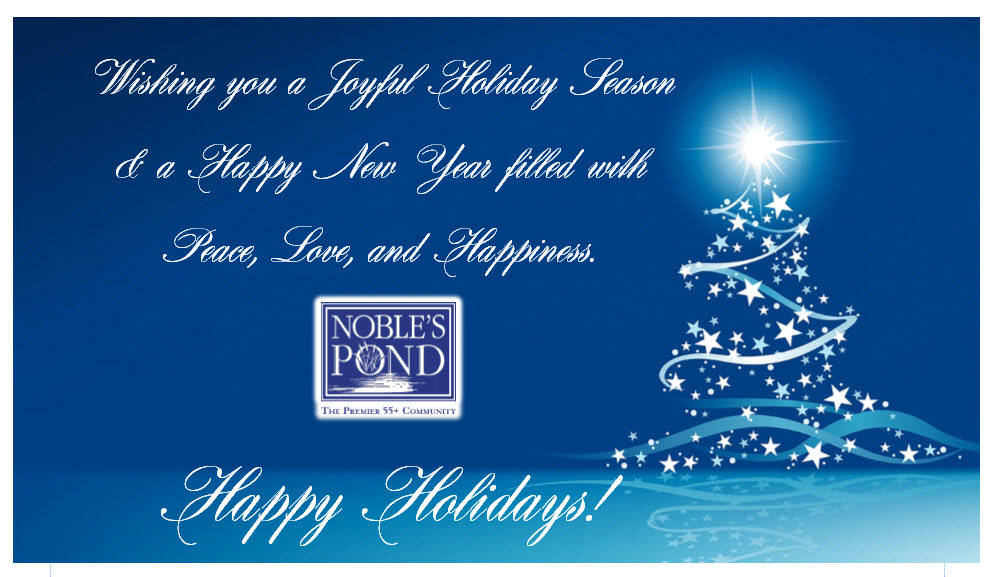 Happy Holidays from Noble's Pond Homes