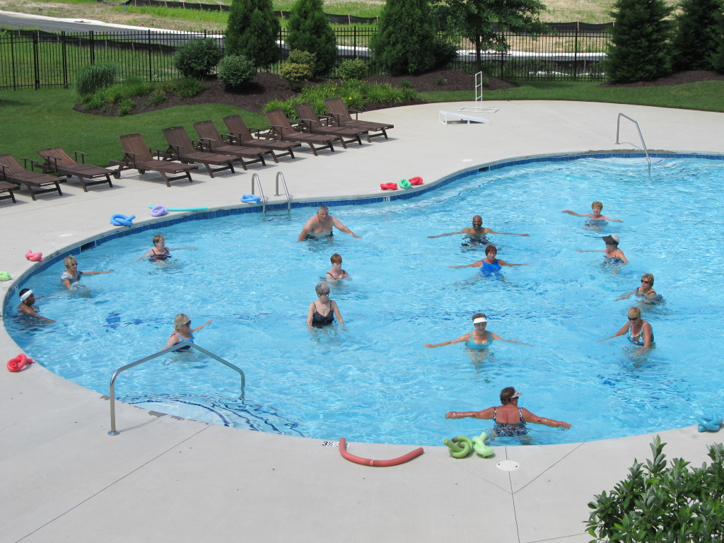 Water Aerobics at Delaware's Premiere 55+ Community