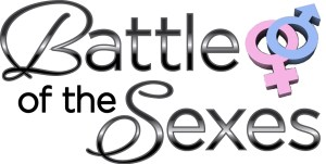 battle-of-the-sexes with pink and blue