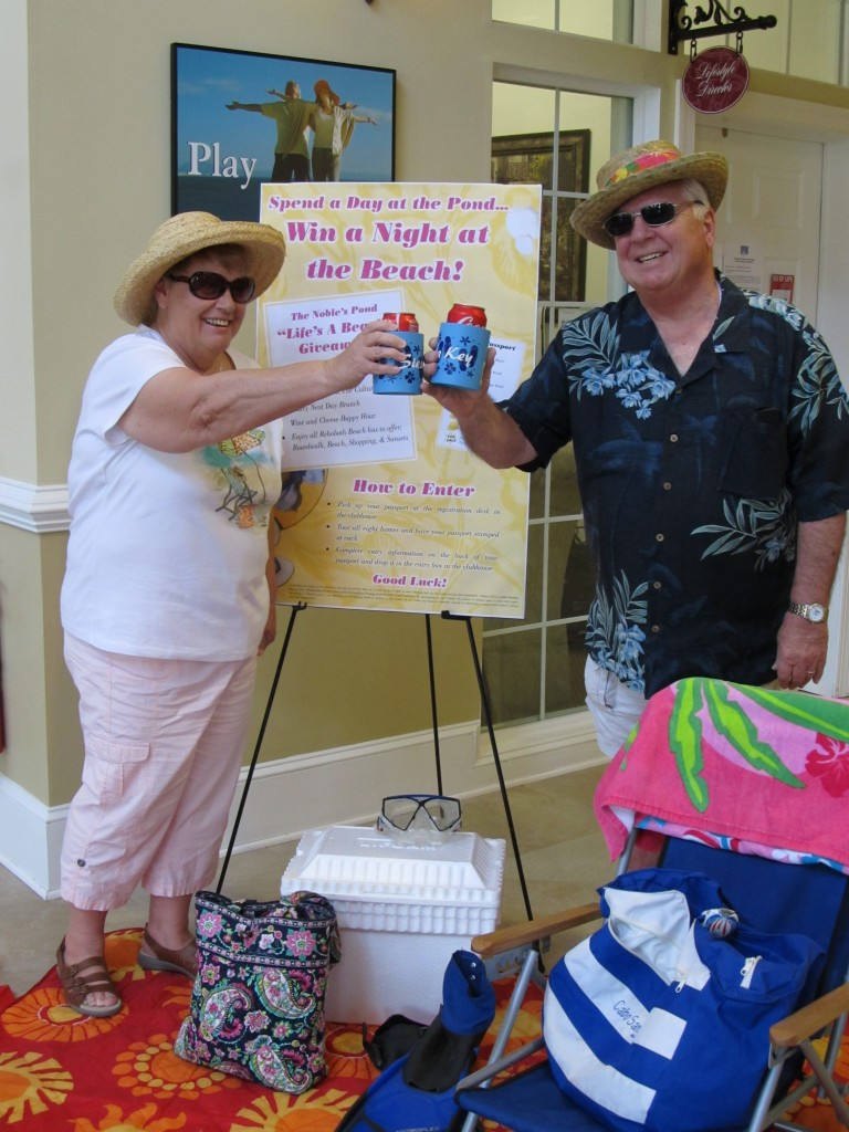 Night at the Beach WInners Ernie and Marie