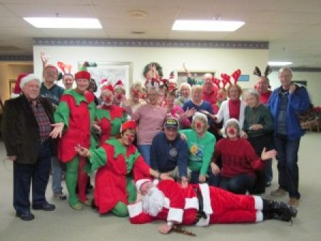 Santa & Carolers @ Courtland Nursing Home