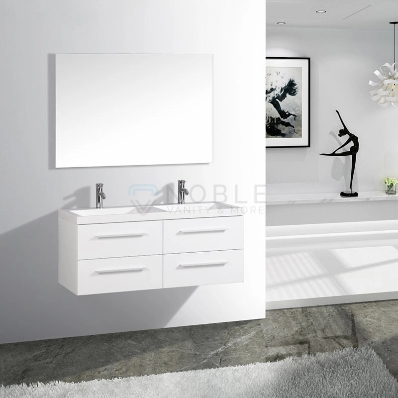 48 inch double sink floating wall