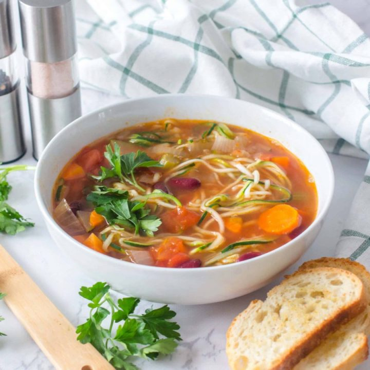 Vegetables and Zoodles Soup