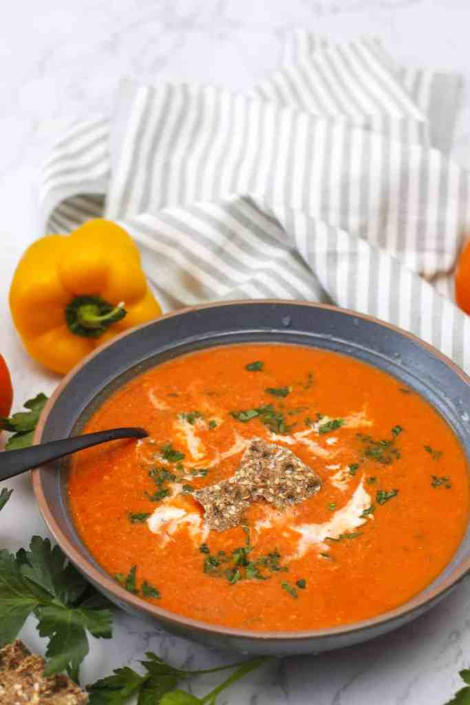 Creamy Roasted Bell Pepper Soup