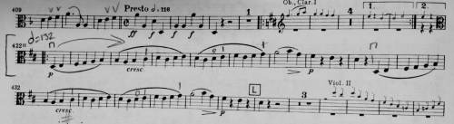 Both Brian Quincey and Viorel Russo like the trio of the second movement. Vio likes the legato line that we play in the second part of the trio. Brian likes the first part of the trio, where the woodwinds play. Brian mostly just likes rests, I think.