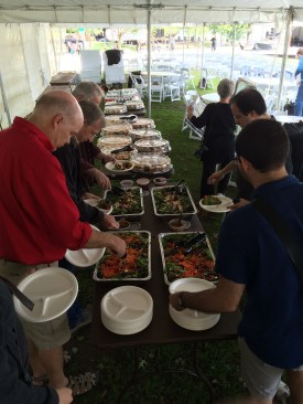 The post rehearsal luncheon, graciously provided by our president, Scott Showalter.