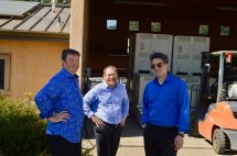 Charles, Greg and Kenji before a concert at J. Christopher Wines.