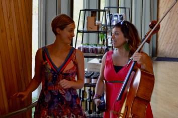 Sasha and Marilyn at Sokol Blosser.